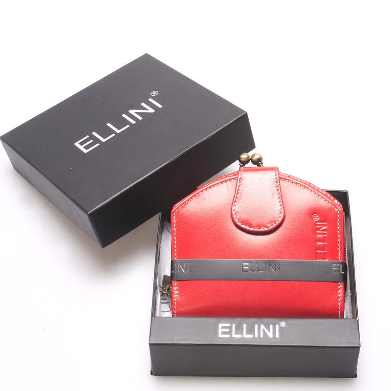 Dámská luxusní kožená peněženka červená - Ellini Dafne