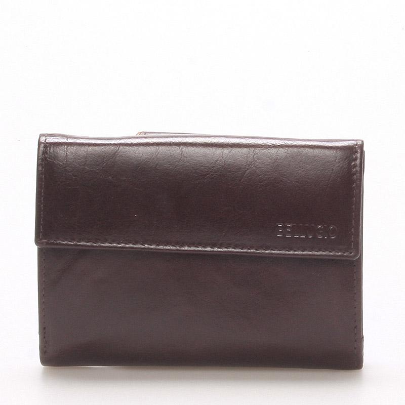 Dámská kožená peněženka čokoládově hnědá - BELLUGIO Bonnie
