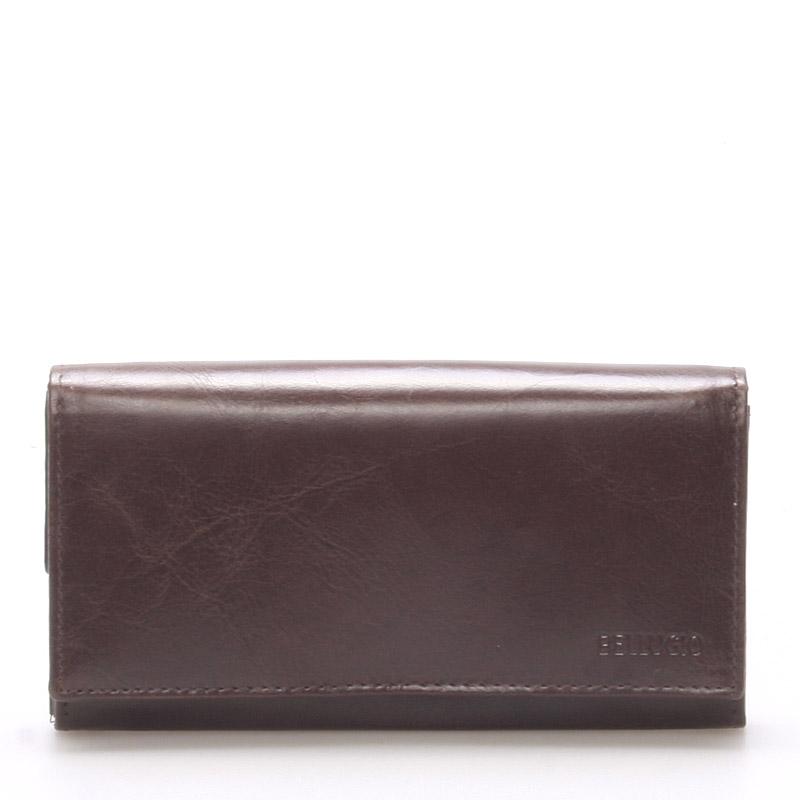 Velká dámská kožená peněženka čokoládově hnědá - Bellugio Caeneus