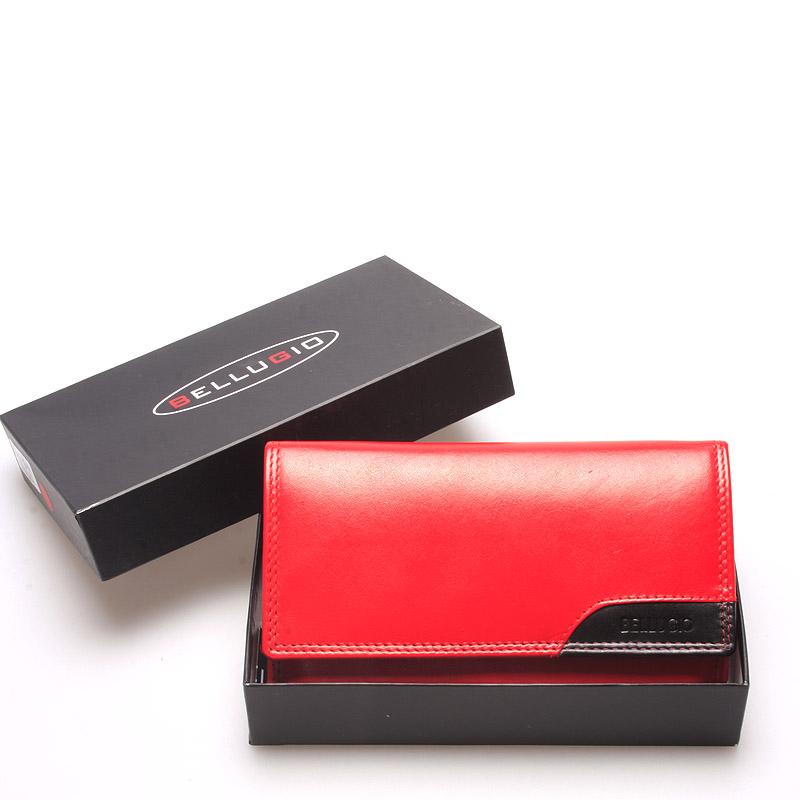 Velká trendy dámská kožená peněženka červená - Bellugio Cailey