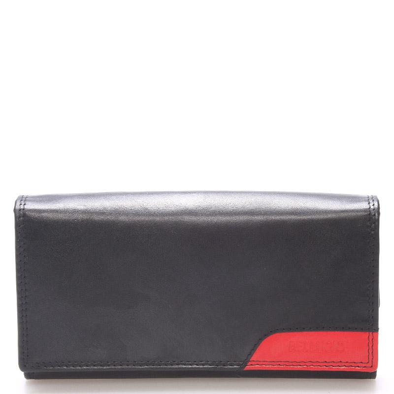 Velká stylová dámská kožená peněženka černá - Bellugio Calixte