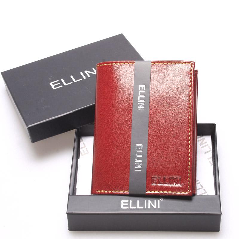 Elegantní pánská kožená peněženka hnědá - Ellini Daemon