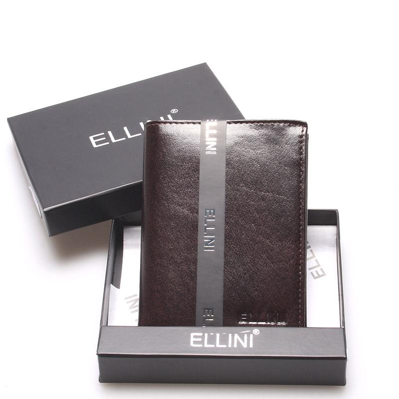 Elegantní pánská kožená peněženka čokoládově hnědá - Ellini Daemon