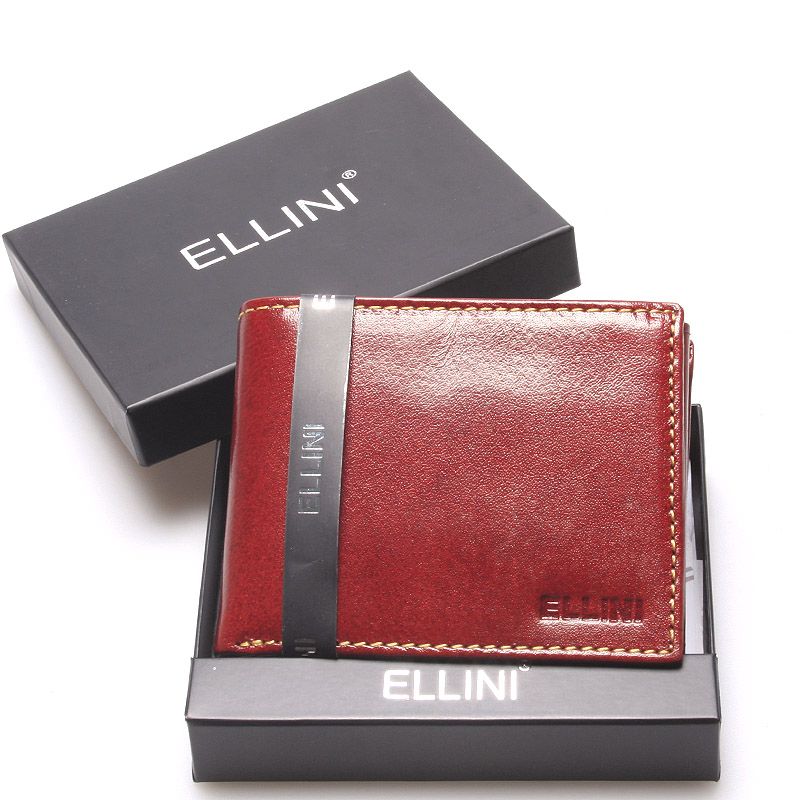 Pánská kožená peněženka hnědá - Ellini Damaskenos