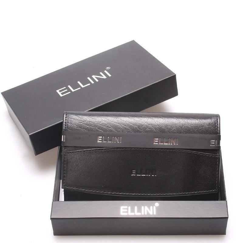 Klasická elegantní kožená černá peněženka - Ellini Daré