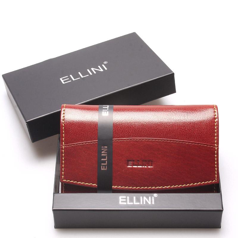 Klasická elegantní kožená hnědá peněženka - Ellini Daré