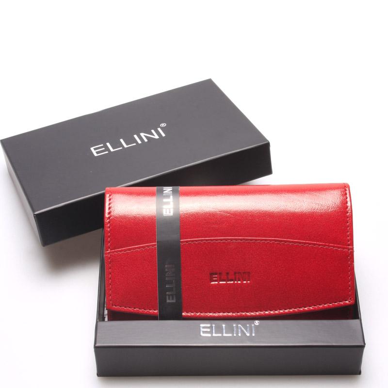 Klasická elegantní kožená červená peněženka - Ellini Daré