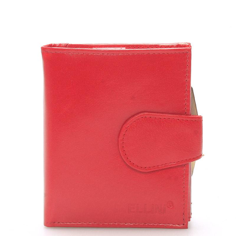 Dámská stylová kožená peněženka červená - Ellini Dahlia