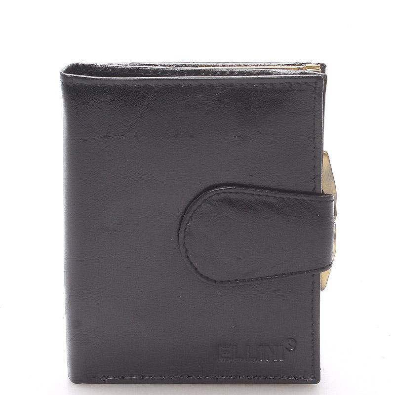 Dámská stylová kožená peněženka černá - Ellini Dahlia