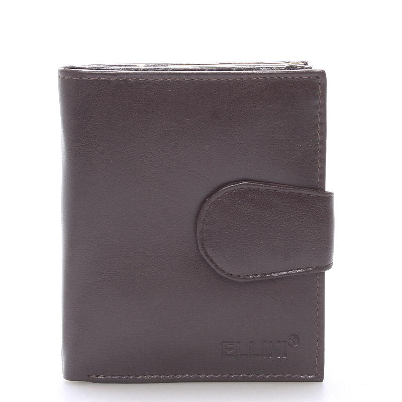 Dámská stylová kožená peněženka čokoládově hnědá - Ellini Dahlia