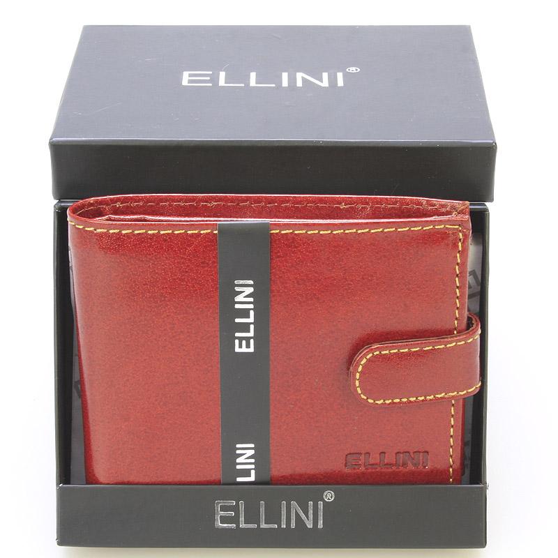 Pánská kožená peněženka hnědá - Ellini Dainis
