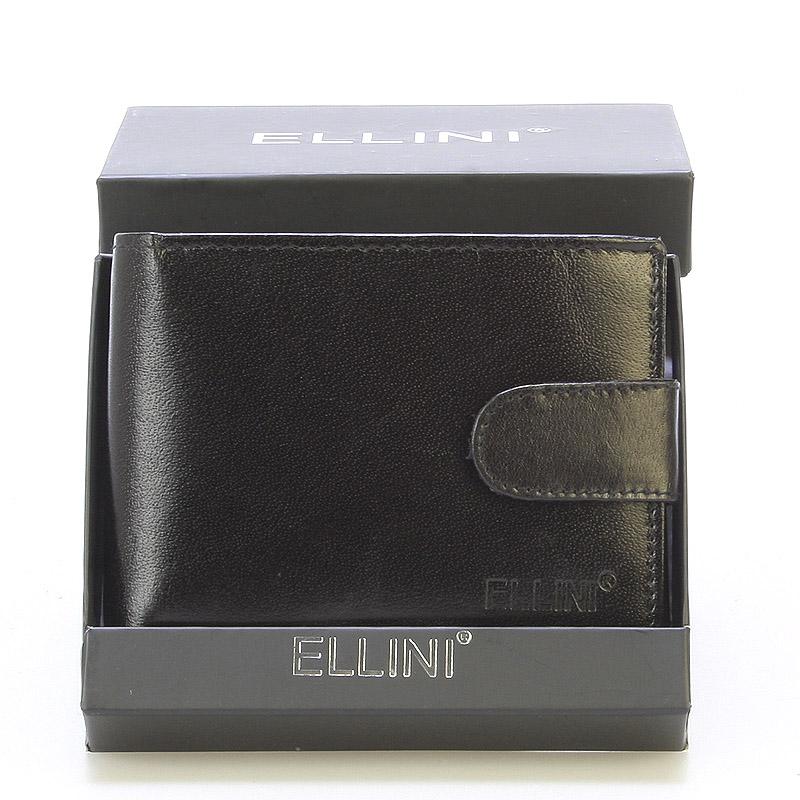 Bezpečná pánská kožená peněženka černá - Ellini Metheo