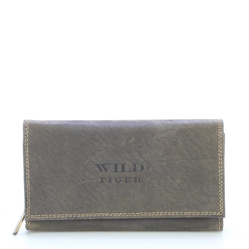 Dámská kožená peněženka hnědá - WILD Haemon