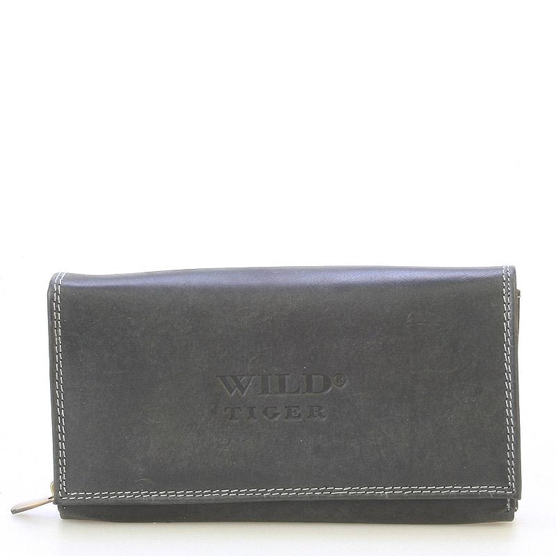 Dámská kožená peněženka černá - WILD Haemon New