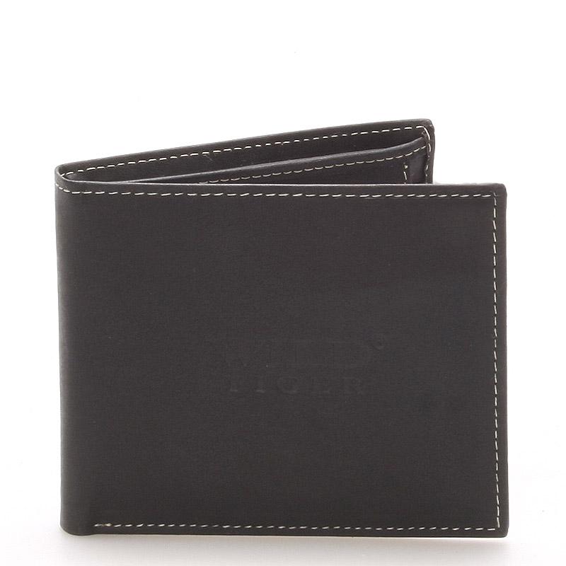 Kožená pánská černá peněženka - WILD Tere
