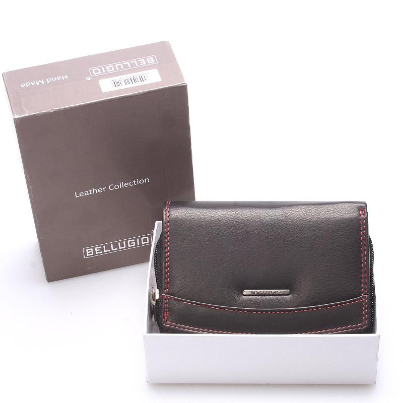 Stylová kožená dámská peněženka černá - Bellugio Smith