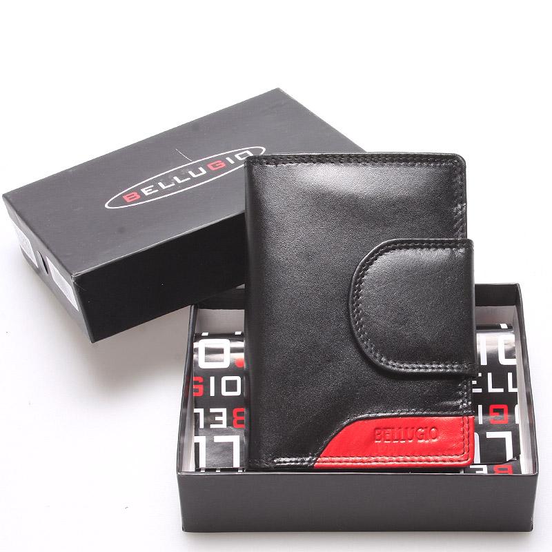 Středně velká dámská kožená peněženka černá - Bellugio Calla