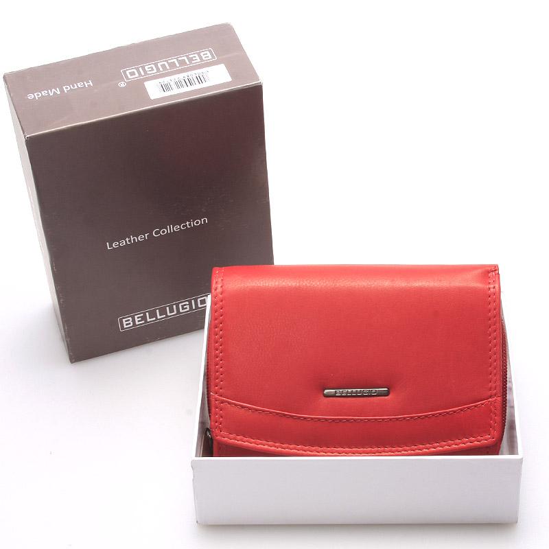 Stylová kožená dámská peněženka červená - Bellugio Smith