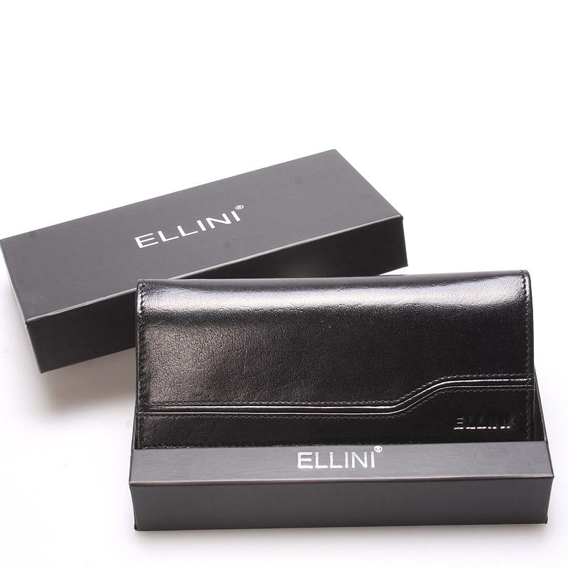 Luxusně elegantní kožená černá peněženka - Ellini Griffin