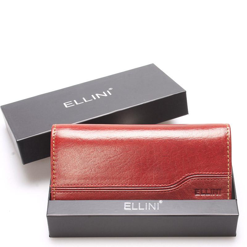 Luxusně elegantní kožená hnědá peněženka - Ellini Griffin