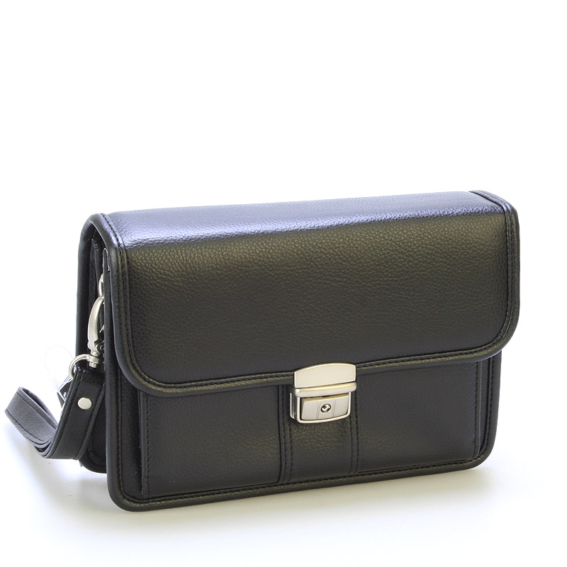 Prostorné pánské černé etue - Sendi Design 2802