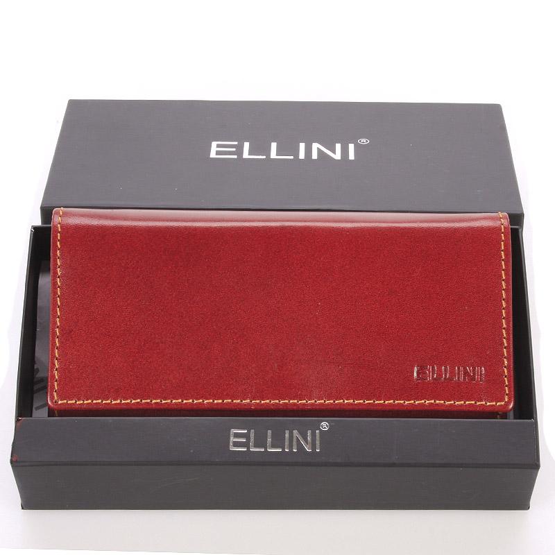 Dámská větší kožená hnědá peněženka - Ellini Damalis