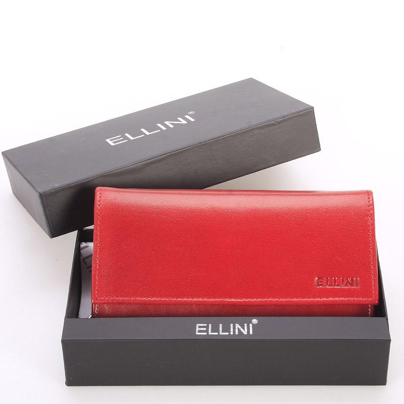 Dámská větší kožená červená peněženka - Ellini Damaris
