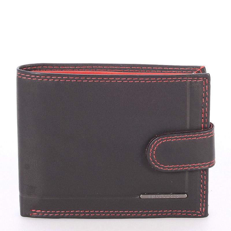Pánská kožená peněženka černo červená - Bellugio Eurus
