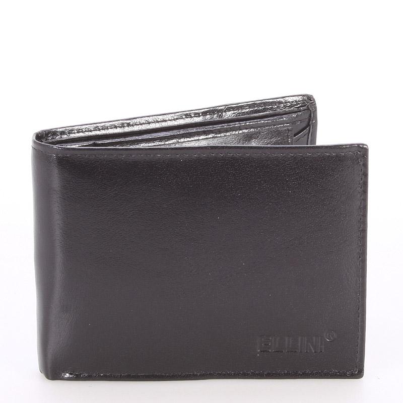 Bezpečná pánská kožená peněženka černá - Ellini Otheo