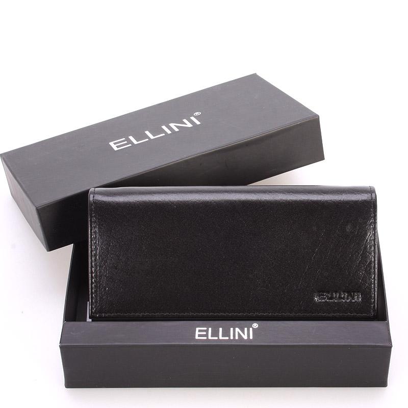 Dámská větší kožená černá peněženka - Ellini Damaris