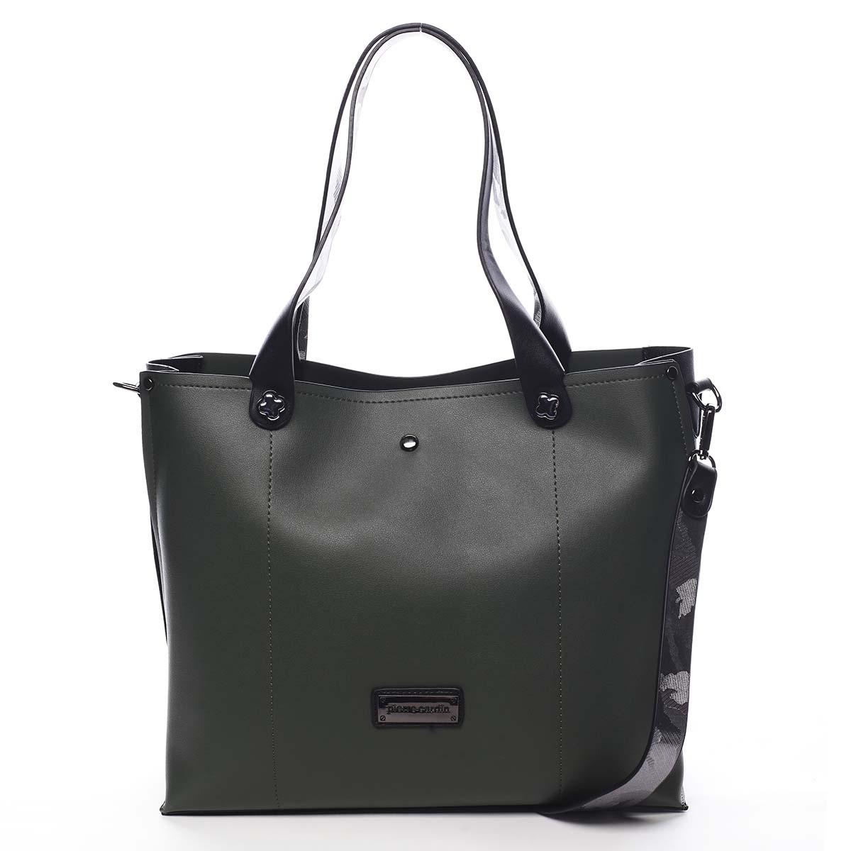 Dámská kabelka přes rameno zelená - Pierre Cardin Ellie