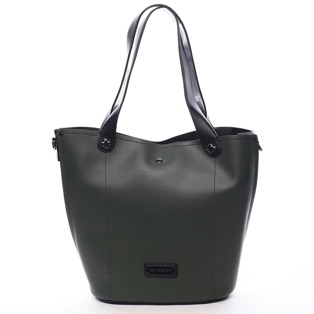 Dámská kabelka tmavě zelená - Pierre Cardin Avrill