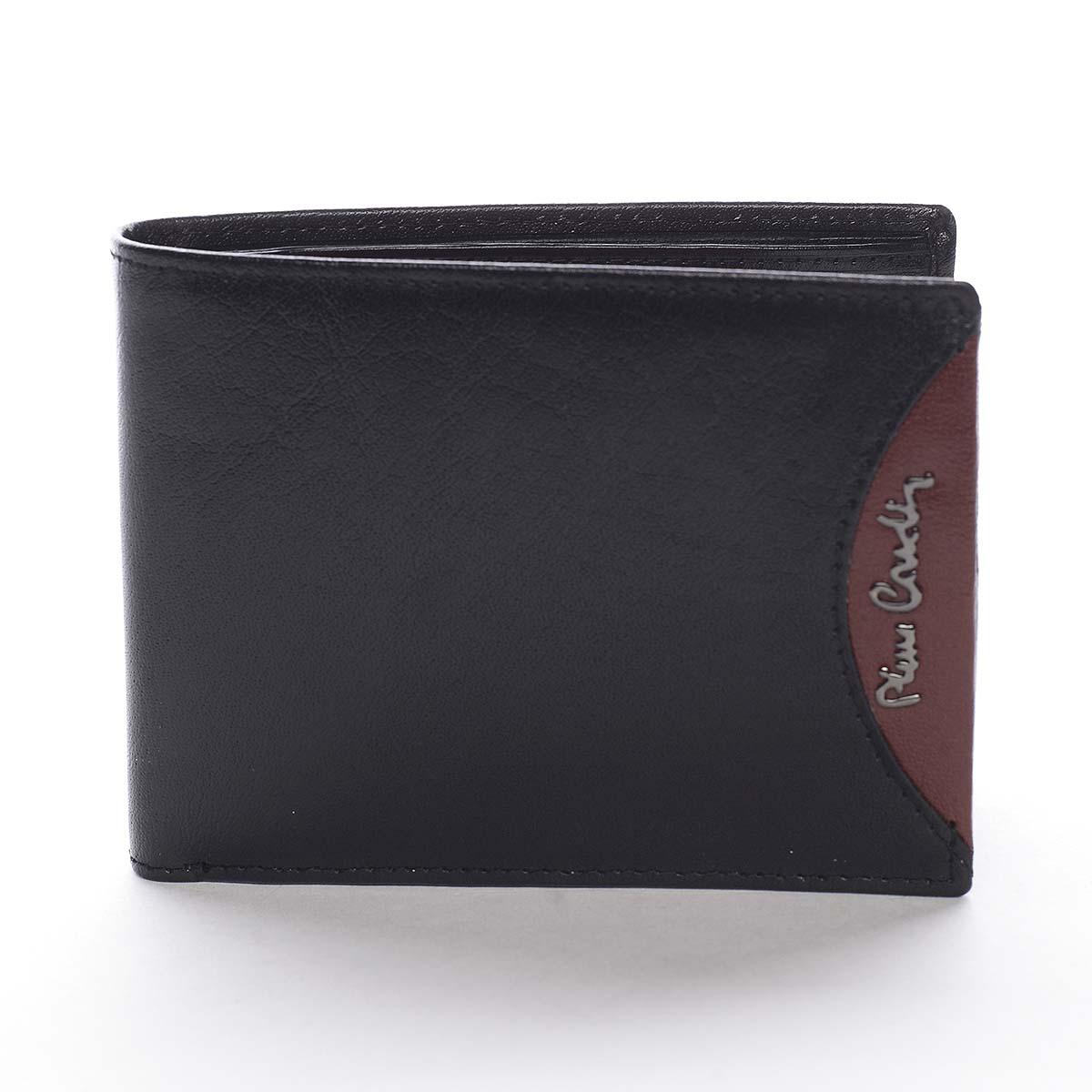 Pánská kožená peněženka černá - Pierre Cardin Ludmar Rosso