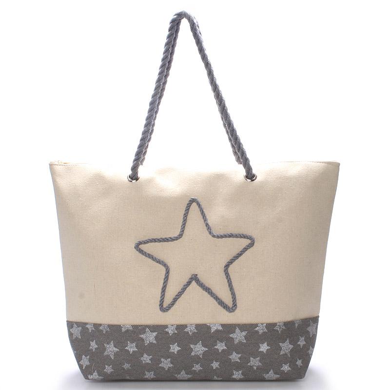 Plážová šedá taška - Delami Stars