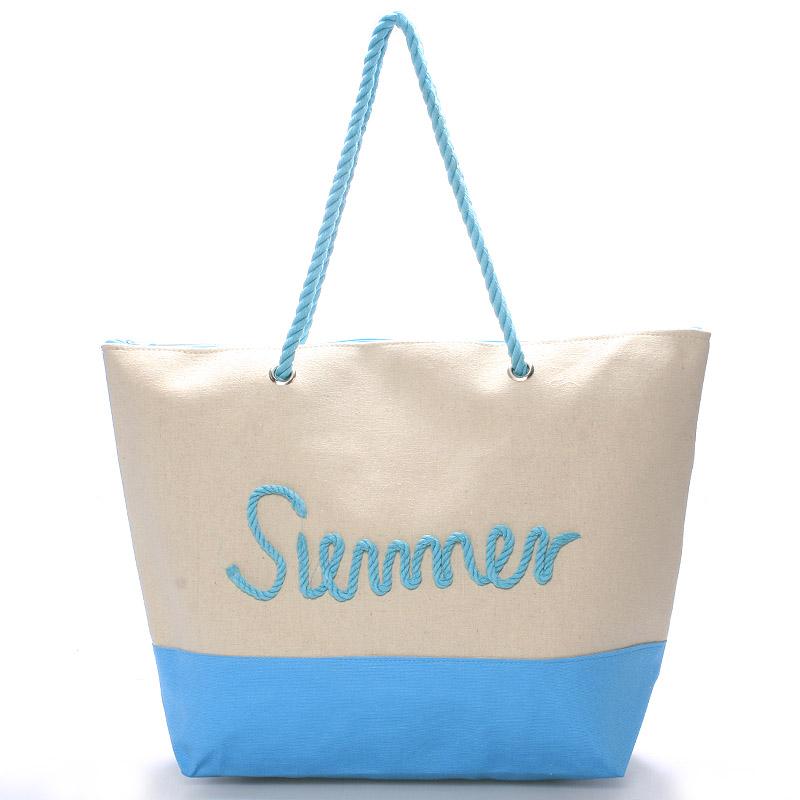 Plážová světle modrá taška Summer - Delami Sunline