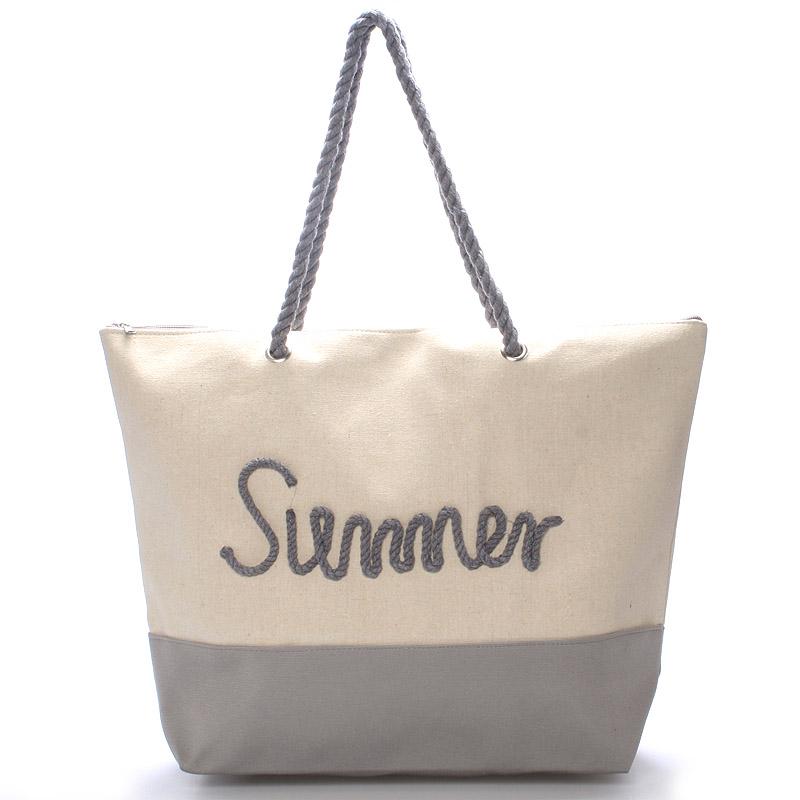 Plážová šedá taška Summer - Delami Sunline