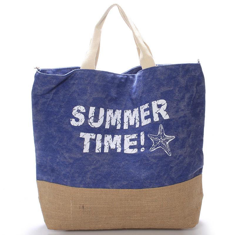Plážová taška Summer Time modrá - Delami Sania