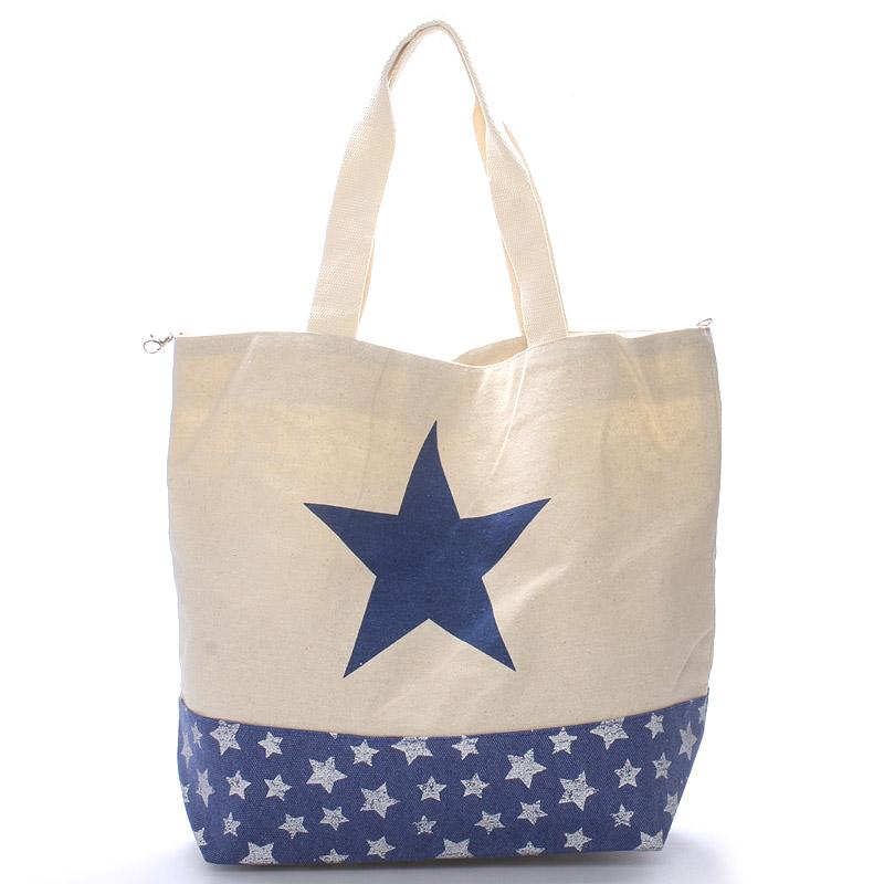 Tmavě modrá plážová taška - Delami Color