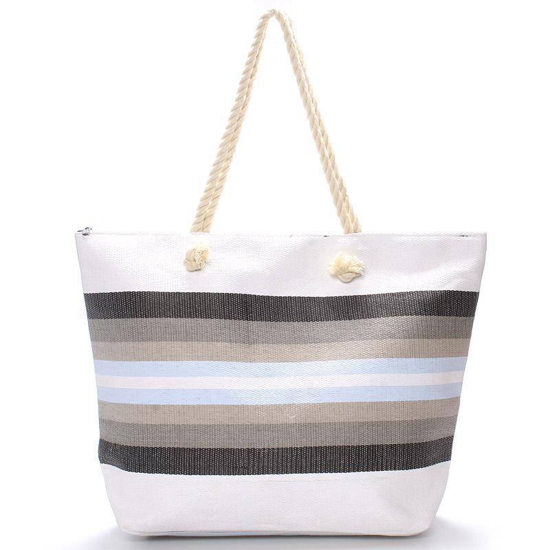 Šedá plážová taška - Delami Color
