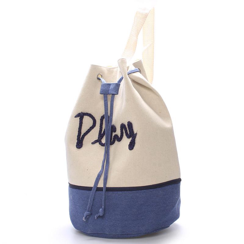 Plážová taška Play modrá - Delami Star