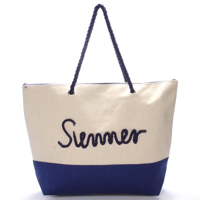 Plážová modrá taška Summer - Delami Sunline