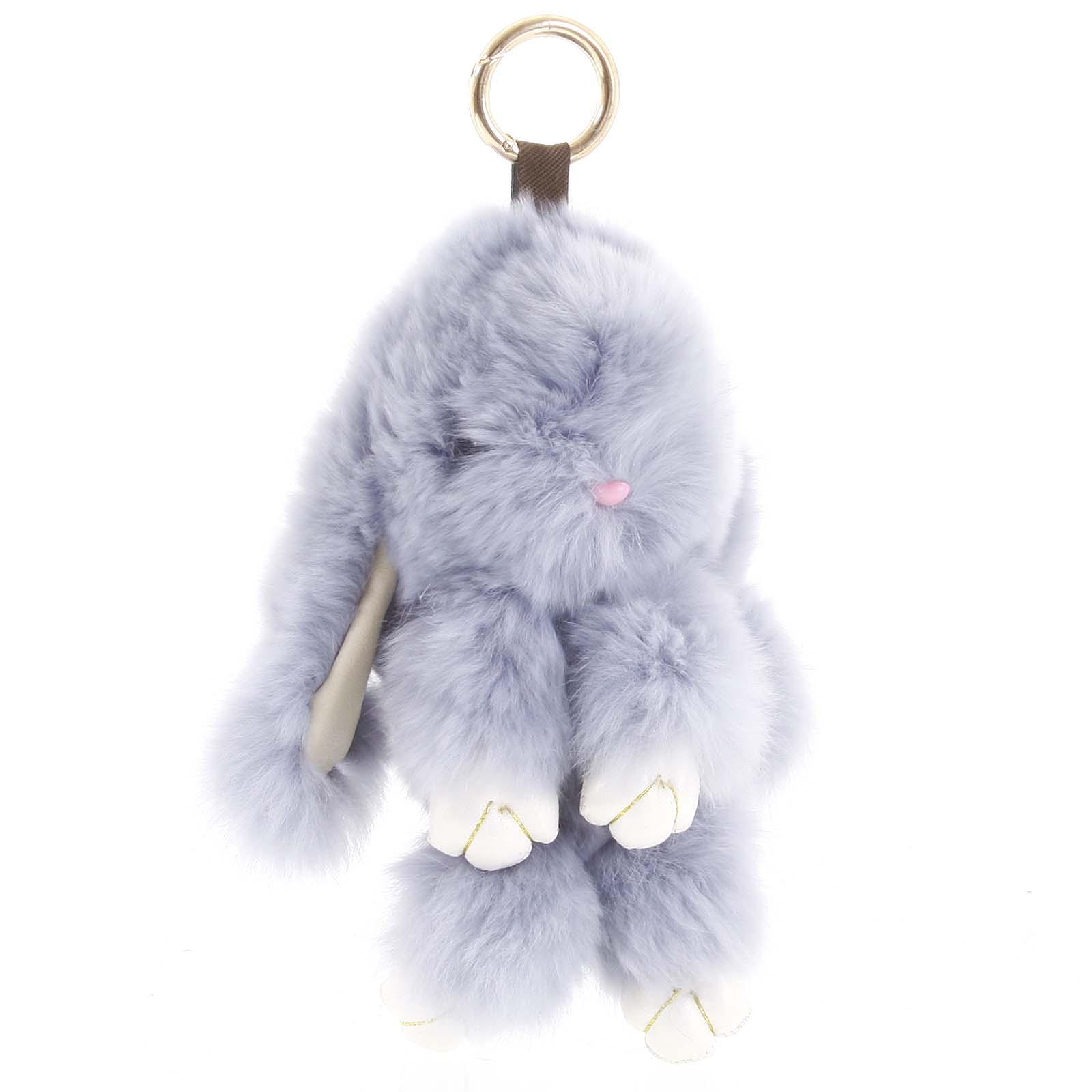 Chlupatý přívěsek bledě modrý - Rabbit 01