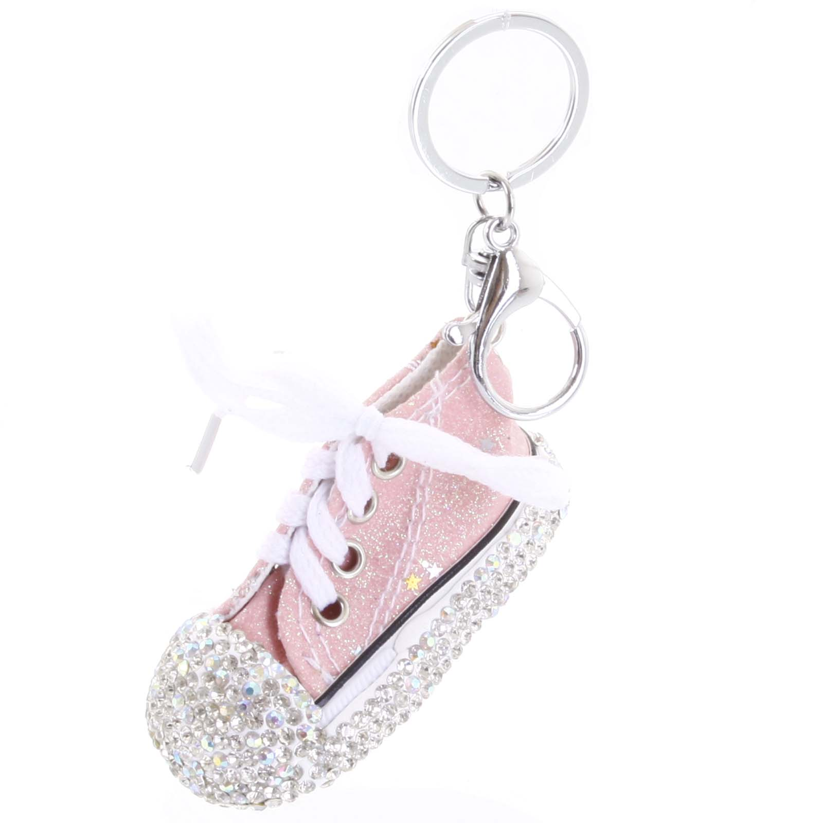 Přívěsek na kabelku růžový - teniska