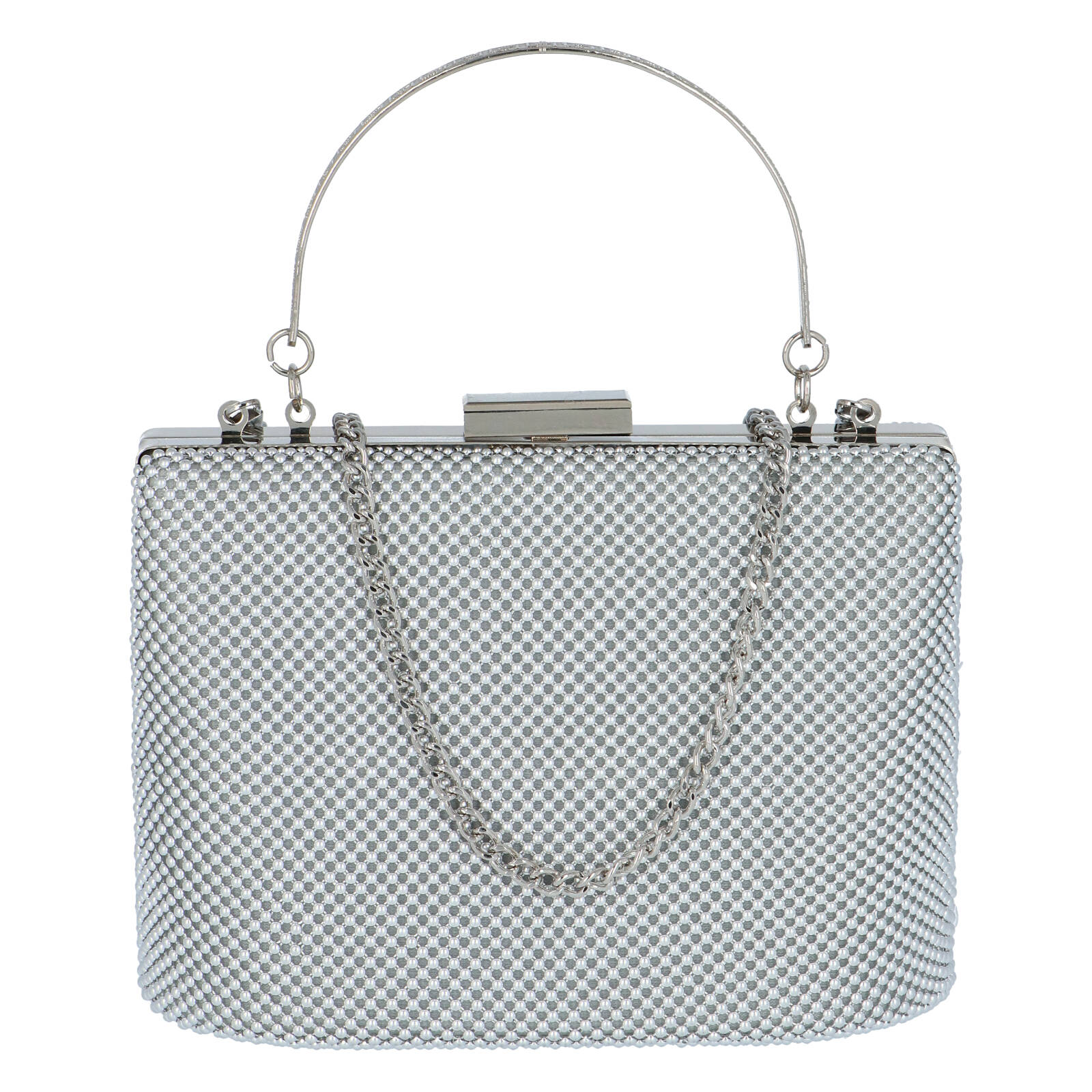 Dámské perleťové psaníčko stříbrné - Michelle Moon V380
