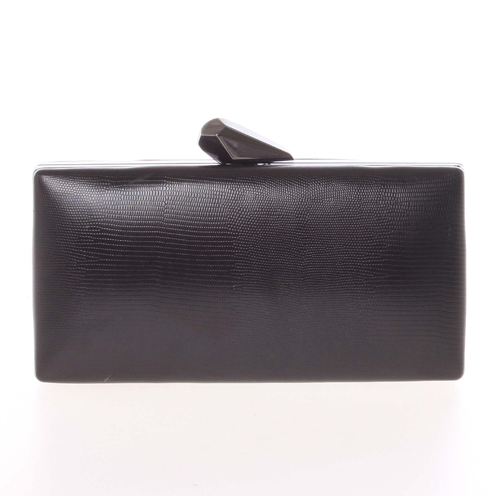 Exkluzivní dámské vzorované psaníčko černé - Delami L055
