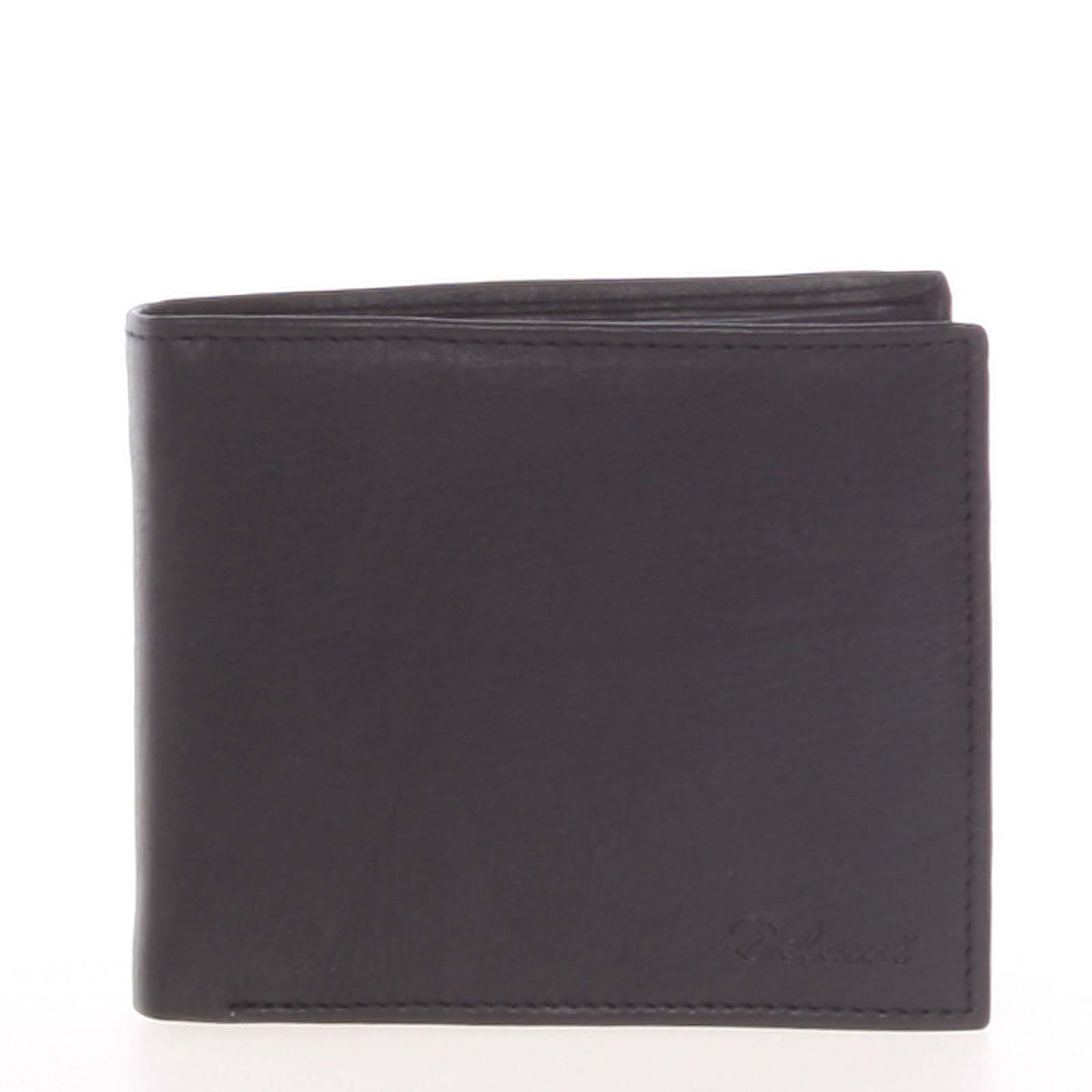 Pánská kožená volná černá peněženka - Delami 8222