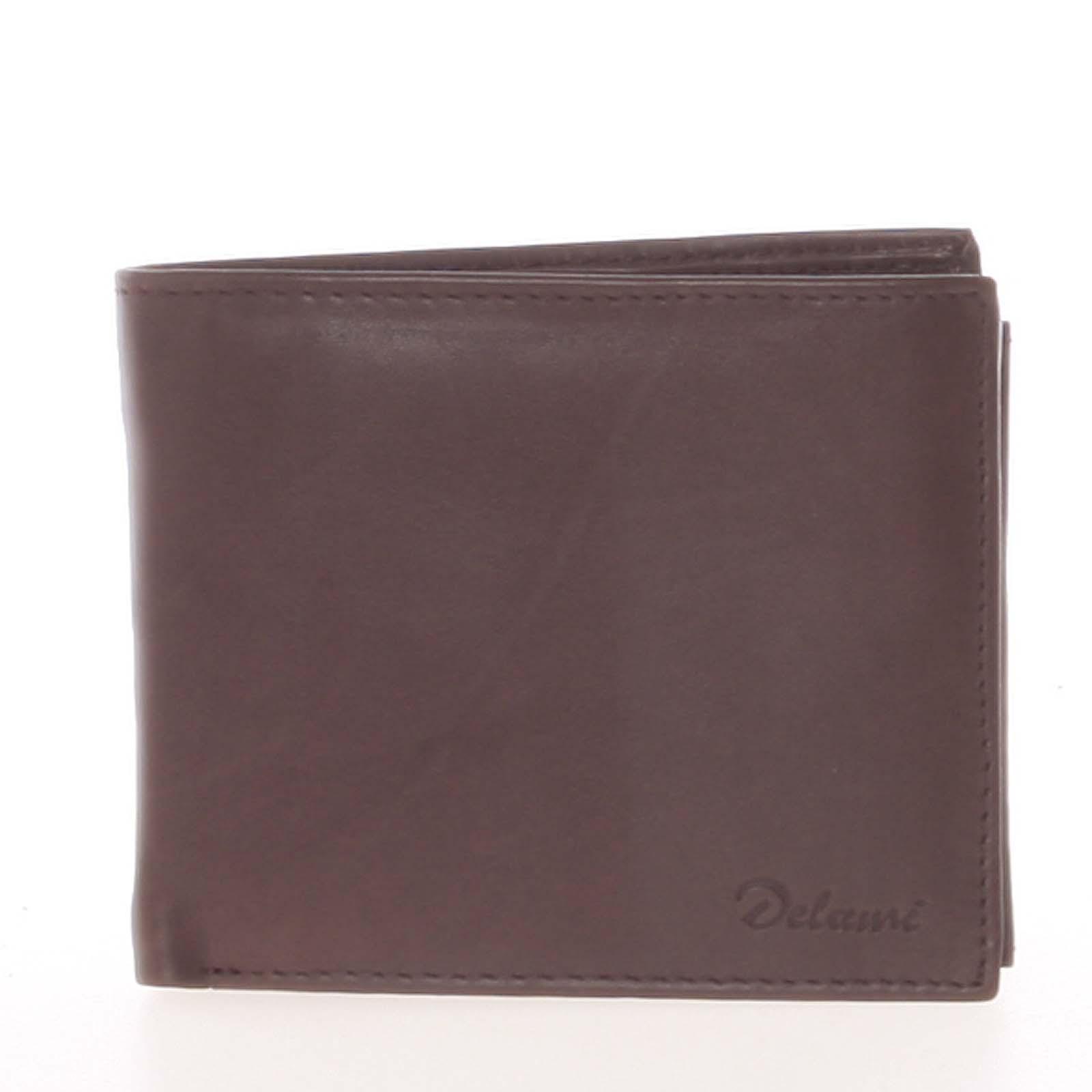Pánská kožená peněženka hnědá - Delami Five