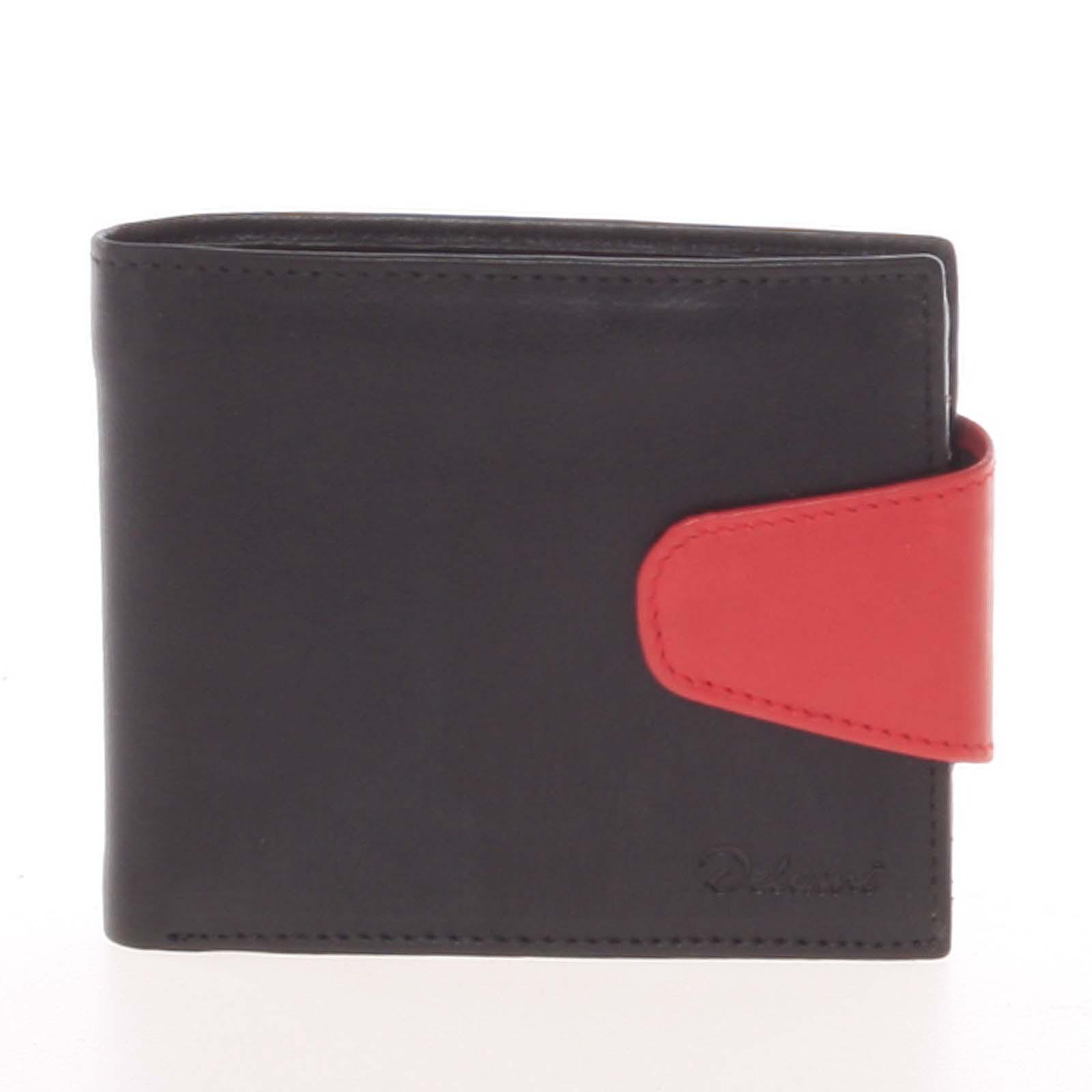 Pánská kožená peněženka černá - Delami 11816
