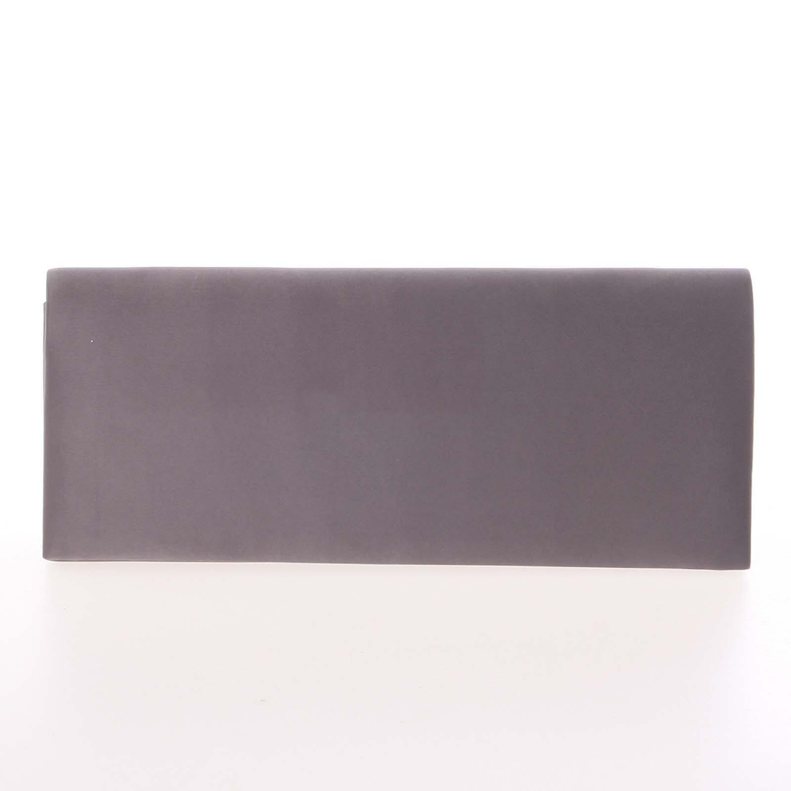 Decentní saténové psaníčko tmavě šedé - Delami P355
