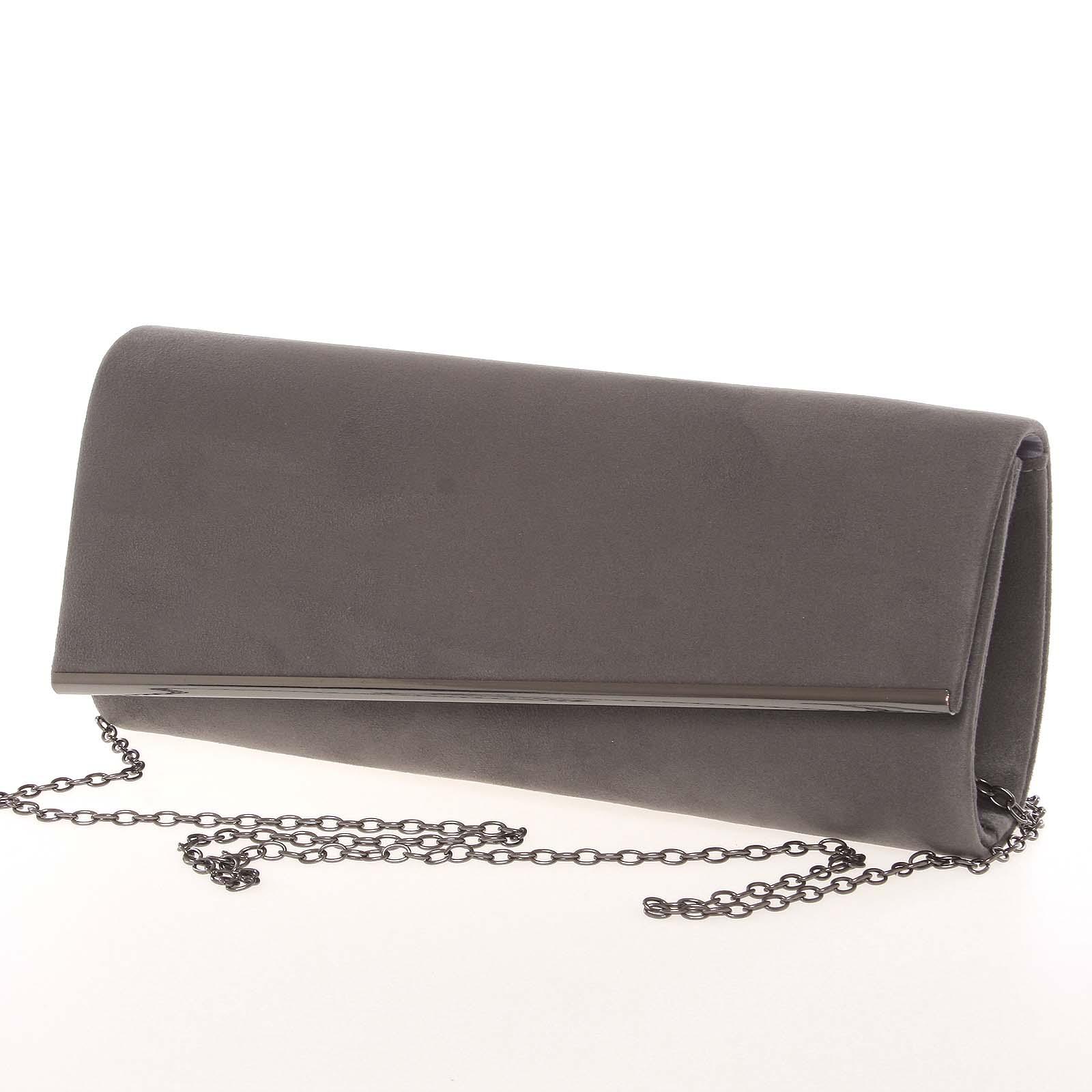 Elegantní dámské podlouhlé šedé psaníčko - Delami 7410